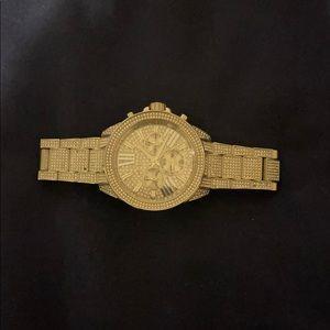 Ritz Pavé Silver-Tone Watch